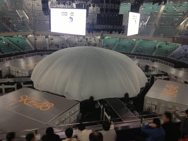 SKE48 日本武道館単独公演会場の様子