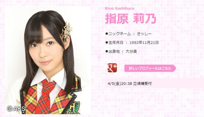 HKT48指原莉乃 AKB48総選挙立候補!