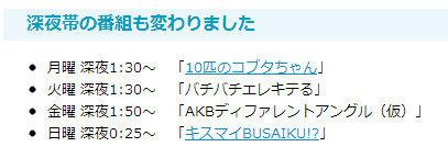 AKB48 新番組?フジ「AKBディファレントアングル(仮)」