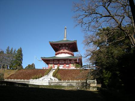 成田山公園から見た平和大塔