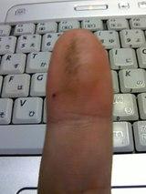 指についた砂