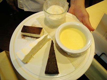 5種類のデザート