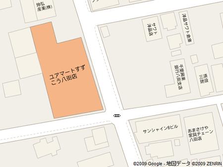 すずこうさんの地図(by google map)
