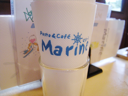 カフェ&パスタ-マリーン(Pasta&Cafe Marine)さんのナプキン