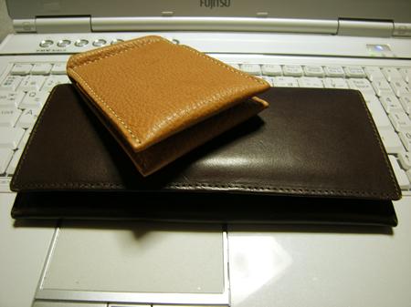 土屋鞄製造さんの長財布とパスケース