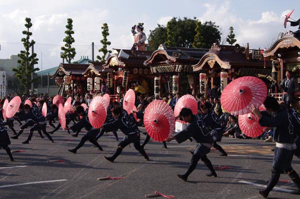 6区のお囃子と踊り 八街大祭2009