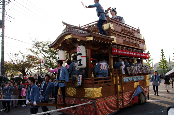 一区の山車 八街大祭2009
