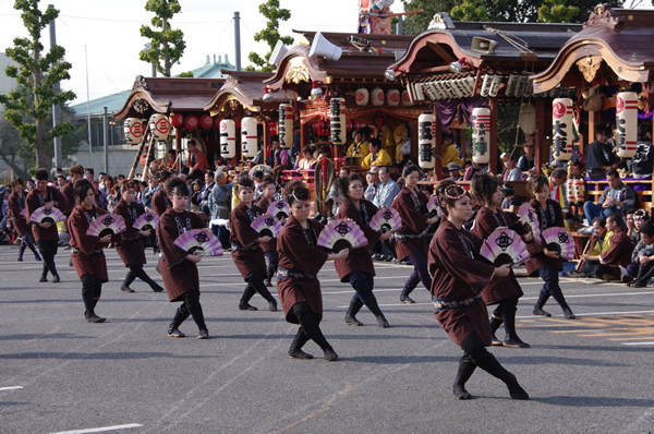 4区のお囃子と踊り 八街大祭2009