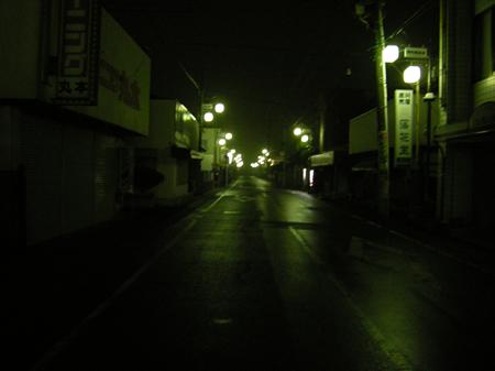 八街市の夜の風景
