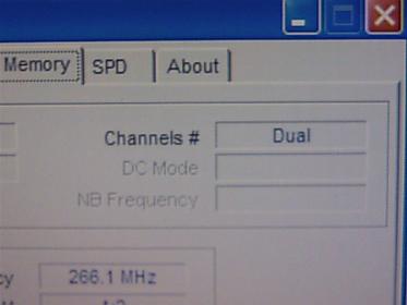 CPU-Z_1.45を使って、Dual(デュアルチャネル)を確認