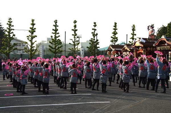 1区のお囃子と踊り 八街大祭2009