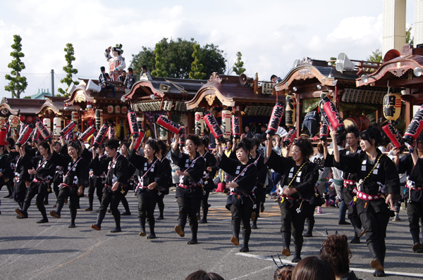 3区のお囃子と踊り 八街大祭2009