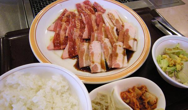 宝島の大盛定食(カルビ定食)