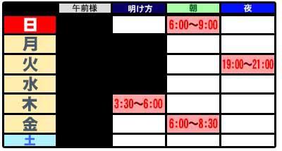 放送スケジュール1712