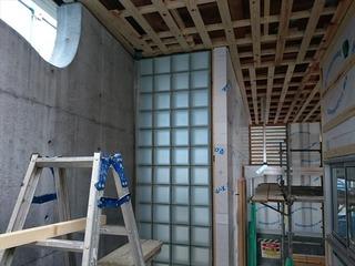 松山市 住宅 ガラスブロック