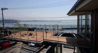 松山市 住宅 デッキテラス