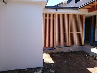 松山市 住宅 塗り壁 (2)