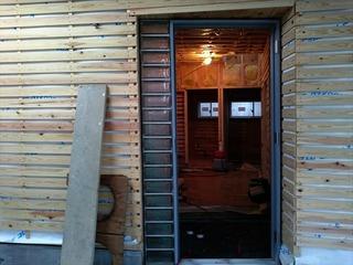 松山市 住宅 玄関 ガラスブロック