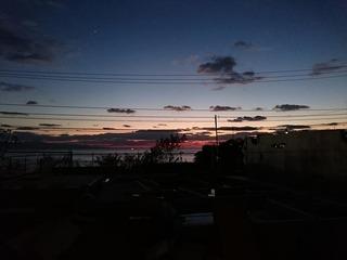 海の家 夕日 (1)