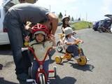 舞洲 パパヘルメット1