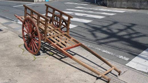 古民具 大八車 荷台付き アンティーク 良品 運搬車陳列台オブジェ