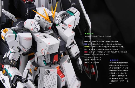 ★MG 1/100 RX-93νガンダムver.Ka [H.W.S.] 改修塗装済完成品★