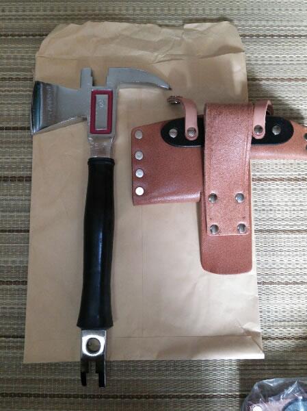 陸上自衛隊 東日本震災復興支援、個人装備工具・斧(未使用)