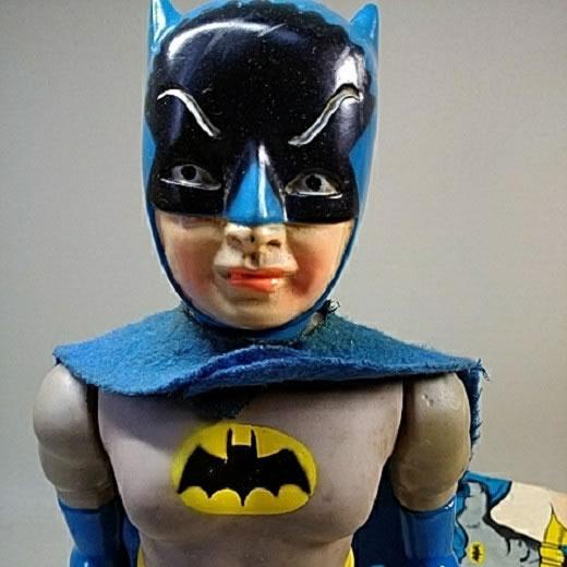 ブリキ玩具 ソフビ人形 バットマン バンダイ
