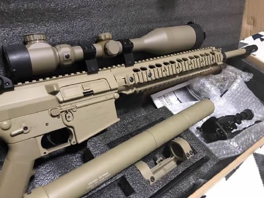 中古 ARES M110 SASS TAN スコープ バイポッド スリング 予備マガジン付き ODA MARSOC