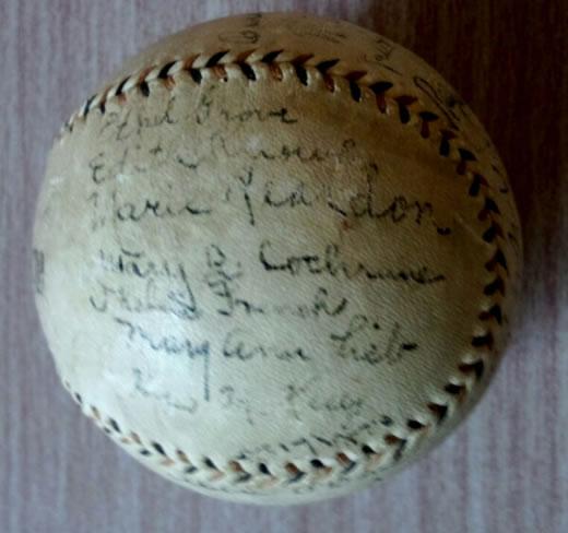 博物館級 第1回日米野球大リーガー直筆サインポールとチケット