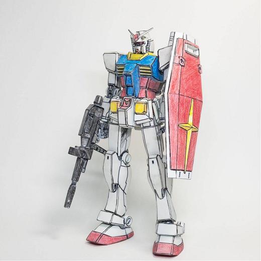 【HGUC 1/144 RX-78-2 ガンダム パステル調イラスト風塗装済み完成品】