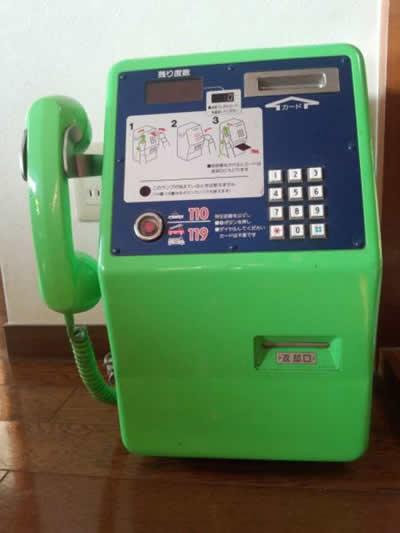 【超レア物】 アンティーク カード式緑公衆電話 ジャンク