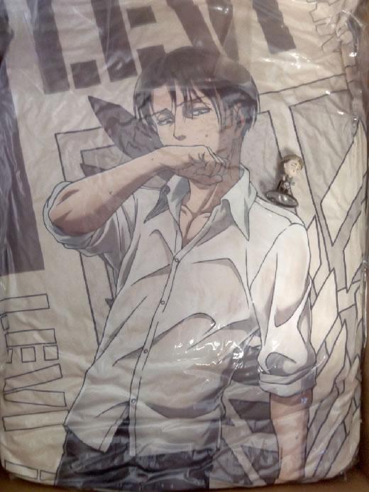 進撃の巨人 リヴァイ兵長 抱き枕 ローソン抽選ウィルキンソン 非売品 激レア 全国100名限定(リヴァイ、エルヴィン、ハンジ)送料無料