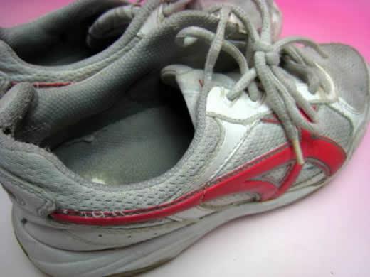 ムーンスター中古運動靴 24cm ヨゴレあり 記名あり上履き