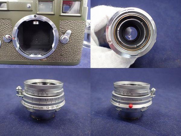 Leica M3 Model Bundeseigentum ライカ M3 西ドイツ軍 オリーブペイント ELMAR 50mm f2.8 革ケース箱付 本物保証 希少 美品