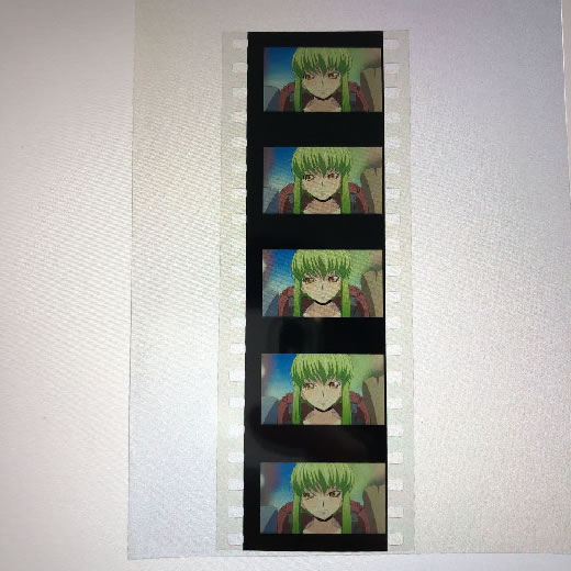 劇場版 コードギアス 復活のルルーシュ 6週目 来場者 入場者 特典 フィルム ルルーシュ C.C. 生コマ