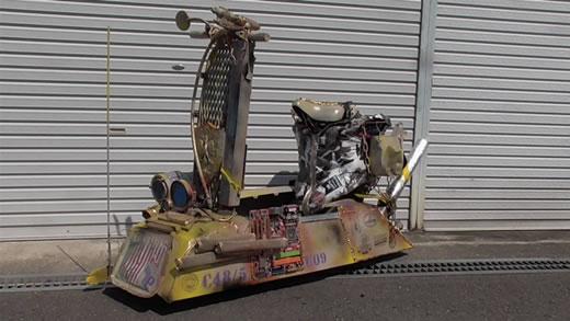改 オリジナル ビンテージ ラット トライク ガレージ 喫茶店 店舗 電動スクーター キックボード スチームパンク