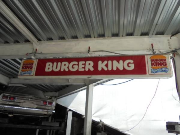 希少 当時物? BURGER KING バーガーキング 看板 レトロ 売り切り
