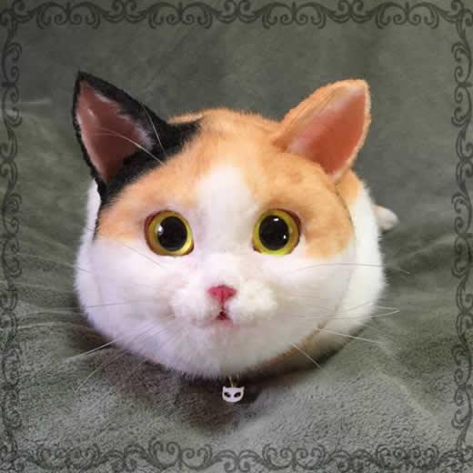 pico 三毛 猫 ボストン ショルダー バッグ ハンドメイド ネコ