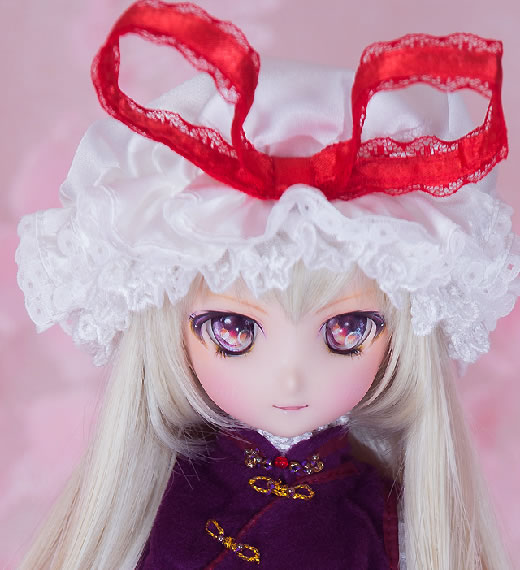 【sugar tiara】東方projectカスタムドール八雲紫 MDDリリルカスタムヘッド+MDDフレッシュ肌ボディDD-f+衣装一式