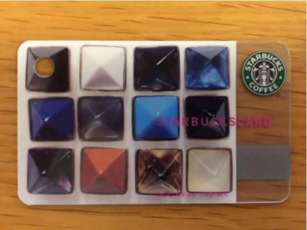 残高1,000円 スターバックス カード ミニ fragment ジュエル