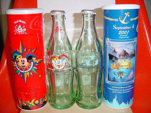 コカコーラ 東京ディズニーランド開園15周年記念・ディズニーシーオープン記念ボトル(非売品)2本セット