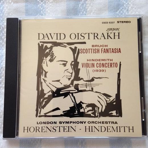 CSCD GOLD オイストラフ:ブルッフ スコットランド幻想曲、ヒンデミット Vn協奏曲 CSCD6337 LONDON