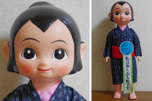 昭和レトロ【ミカちゃん】大型(455mm)ソフビ人形