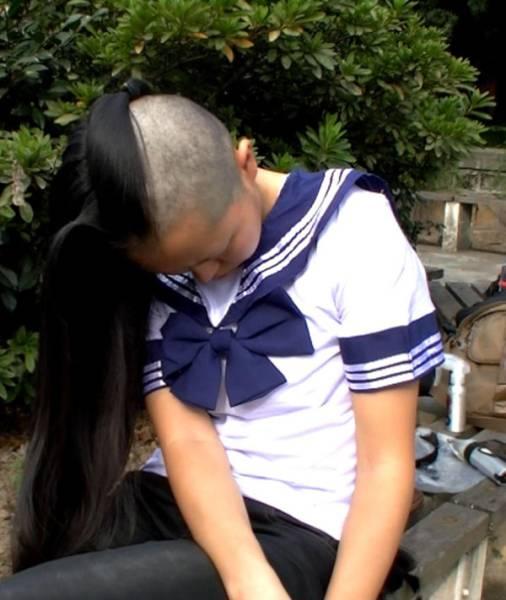 髪束 人毛 髪の毛 ウィッグ エクステなどに 送料込!!18歳学生