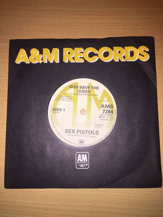 Sex Pistols A&M God Save The Queen 7inch アナログ・オリジナル盤