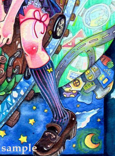 もる「羽化未満。」同人 オリジナル セーラー 手描きイラスト