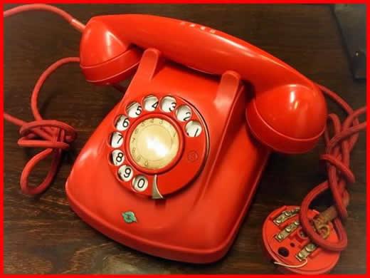 48a*昭和の赤電話/4号自動式委託公衆電話機/日本電信電話公社製