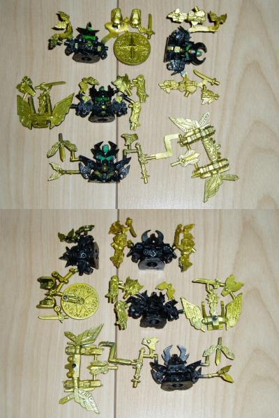 ガン消し:SDガンダム伝説の大将軍彩色版5種他セット