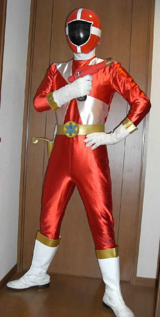 救急戦隊ゴーゴーファイブ 『ゴーレッド』 アトラク 衣装 コスチューム一式